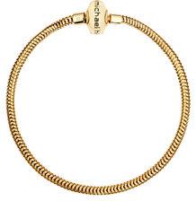 "Diamond Set & 10ct Yellow Gold 19cm (7.5"") Charm Bracelet"