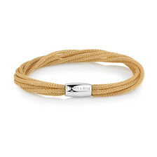 "Multi Strand 19cm (7.5"") Wild Hearts Bracelet in Bronze Mesh & Stainless Steel"