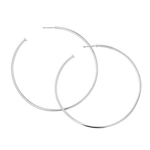 70mm Hoop Earrings in Sterling Silver