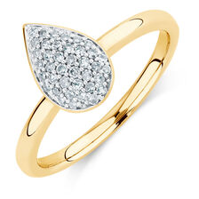 0.20 Carat TW Diamond Teardrop Stacker Ring