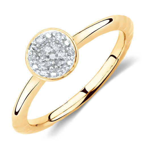 Diamond Set Ring in 10ct Yellow Gold