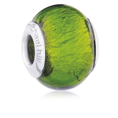 Bright Green Murano Glass Charm