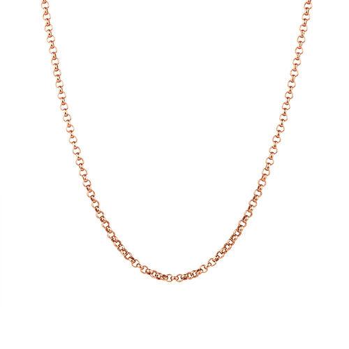 "60cm (24"") Belcher Chain in 10ct Rose Gold"