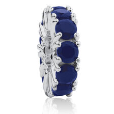 Dark Blue Cubic Zirconia Spacer