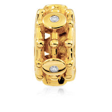Online Exclusive - Charm with 1/4 Carat TW of Diamonds in 10ct Yellow Gold