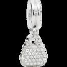 Cubic Zirconia & Sterling Silver Handbag Charm