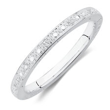 Emma & Roe Stacker Ring with Cubic Zirconia in Sterling Silver