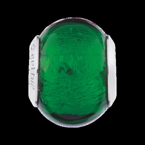 Dark Green Murano Glass Charm