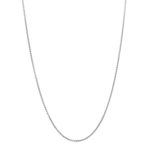 "50cm (20"") Square Belcher Chain in Sterling Silver"