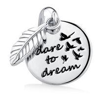 """""""Dare to Dream"""" Mini Pendant in Sterling Silver"""