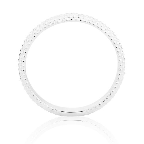 Sterling Silver Ridged Stack Ring