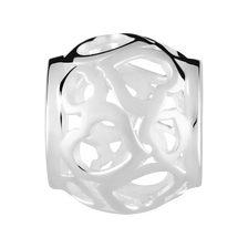 Sterling Silver Filigree Open Heart Pattern Charm