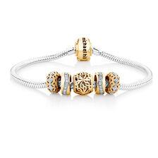 0.22 Carat TW Diamond Charm Bracelet