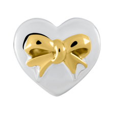 Sterling Silver & 10ct Yellow Gold Heart Charm