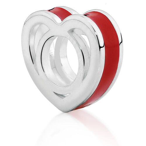 Red Heart Enamel Charm