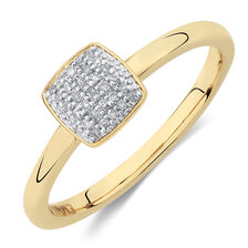 Stacker Rings with Diamonds in 10ct Yellow Gold