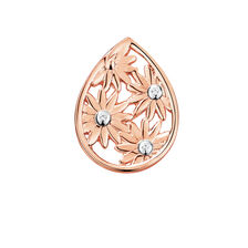 Diamond Set Daisy Mini Coin Locket in 10ct Rose Gold