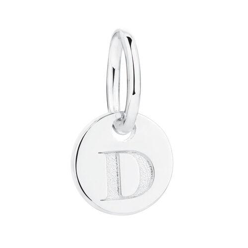 D' Mini Pendant in Sterling Silver