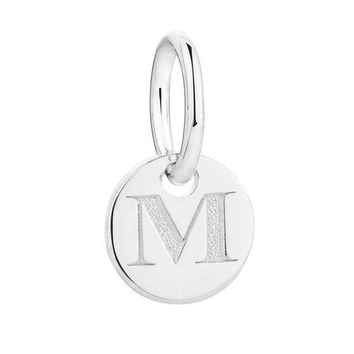 M' Mini Pendant in Sterling Silver