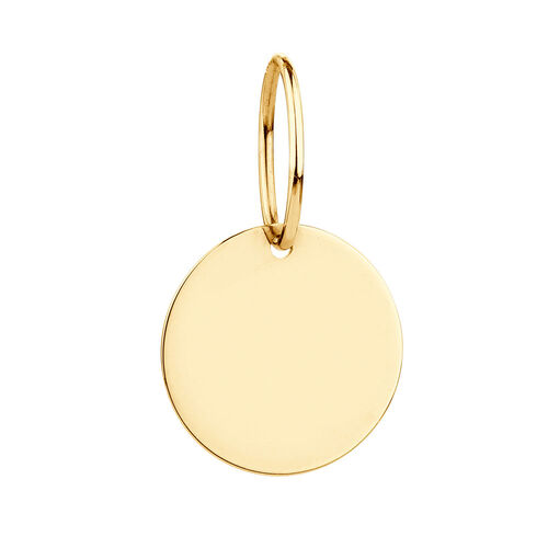 Engravable Round Mini Pendant in 10ct Yellow Gold