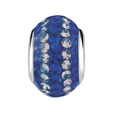 Royal Blue & White Crystal Charm