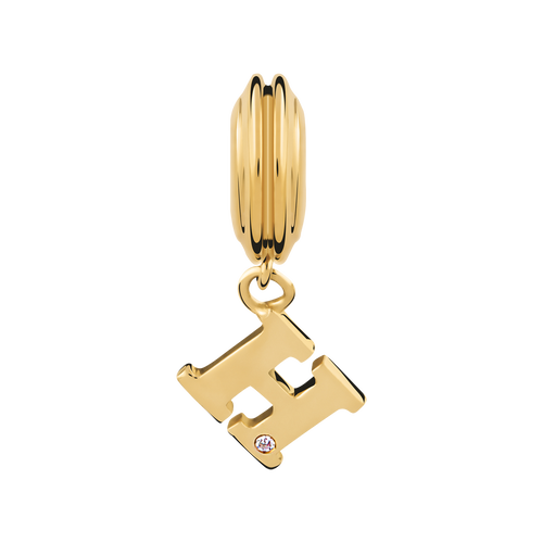 Diamond Set & 10ct Yellow Gold 'H' Charm