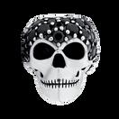 Black Cubic Zirconia & Sterling Silver Skull Wild Hearts Charm