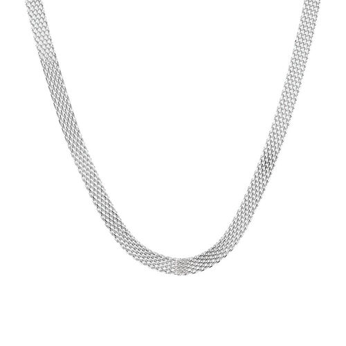 "30cm (12"") Mesh Chain Choker in Sterling Silver"