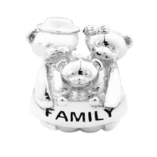 Sterling Silver Bear Family Charm