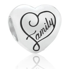 """Family"" Charm in Sterling Silver"