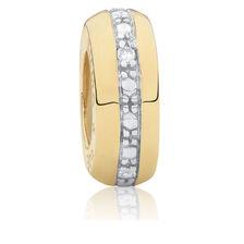 Diamond Set Slider Charm in 10ct Yellow Gold