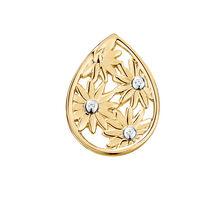 Diamond Set Daisy Mini Coin Locket in 10ct Yellow Gold