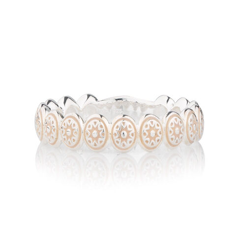 Online Exclusive - Patterned Stacker Ring in Sterling Silver
