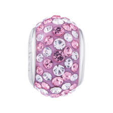 Pink & White Crystal Charm