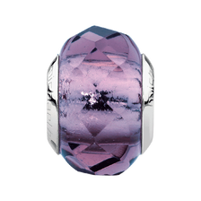 Purple Faceted Glass Charm