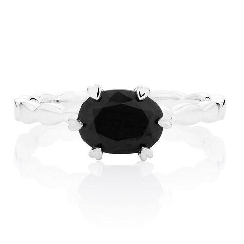 Black Cubic Zirconia Stack Ring