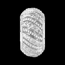 Diamond Set & Sterling Silver Charm