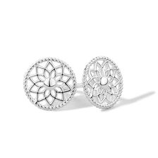 Dream Catcher Stud Earrings in Sterling Silver