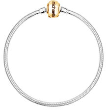 "10ct Yellow Gold & Sterling Silver 21cm (8.5"") Charm Bracelet"