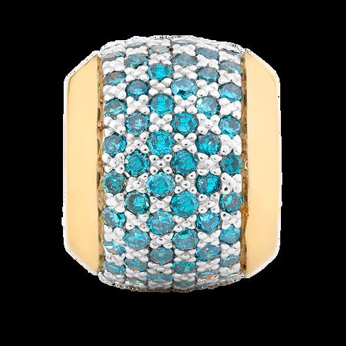 1/2 Carat TW Enhanced Blue Diamond Marrakesh Charm