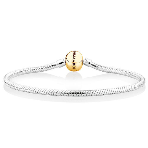 """19cm (7.5"""") Charm Bracelet in 10ct Yellow Gold & Sterling Silver"""