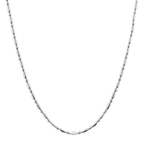 "50cm (20"") Beaded Chain in Sterling Silver"