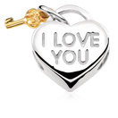10ct Yellow Gold & Sterling Silver Heart Charm
