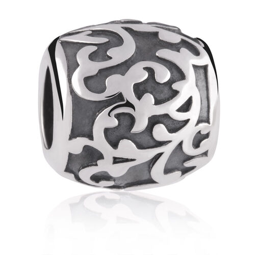 Sterling Silver Leaf Filigree Charm