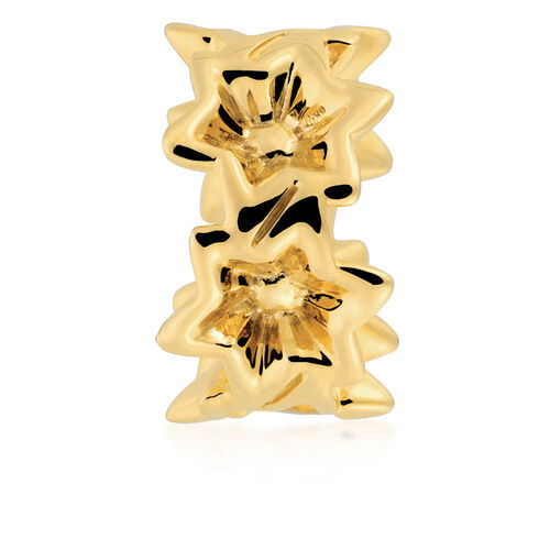 Flower Patterned Charm in 10ct Yellow Gold