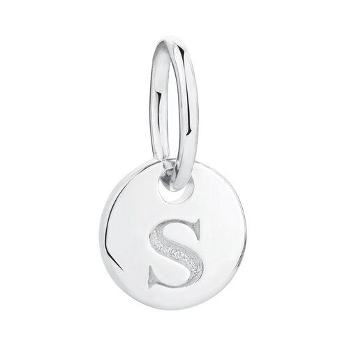 S' Mini Pendant in Sterling Silver