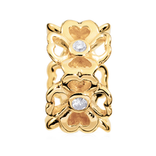 Online Exclusive - Diamond Set & 10ct Yellow Gold Flower Charm