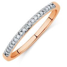 Diamond Set 10ct Rose Gold Stack Ring