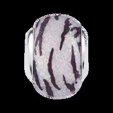 Zebra Stripe Glitter Charm