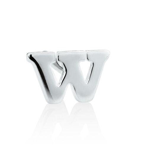 """""""W"""" Stud Earring in Sterling Silver"""